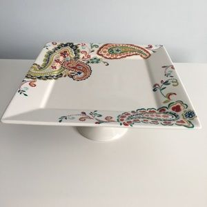 222 Fifth Footed Pedestal Paisley Cake Plate